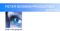 Peter Bosman Producties